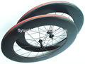 de carrera de carretera de carbono rueda de bicicleta para la venta de onda 3k De carbono ruedas