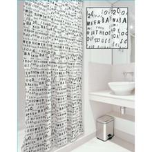 Impresión de las letras / poliéster impreso cortina de la ducha