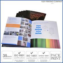 los productos de encargo del folleto manual de instrucciones de impresión del catálogo