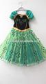 Venta caliente congelados princesa anna niños niñas falda vestido de traje de cosplay 5-6years