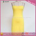 amarillo sexy backless equipado en forma de empaquetado de la cadera vestido elegante vestido camiseta corta sexy mini vestido