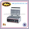 Eléctrica eg-6x crujiente máquina/galleta máquina de hot dog( seis partes)