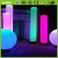 Partido/eventos/baratos publicidad inflable pilar de luz