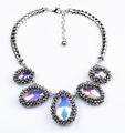 caliente la venta de ebay de plata collar de acrílico collar declaración