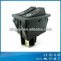 doble actuador 4-6 pins luminosos ra del eje de balancín de del interruptor/barco interruptor de la luz con