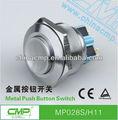 cmp 28mm de metal de acero inoxidable levantó la cabeza de botón interruptor interruptor de la máquina