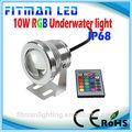 10w 12v rgb conduziu a luz subaquática da piscina piscina de luz de aquário fonte de luz led lâmpada subaquática