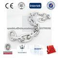 Fabricación y venta de la cadena de alta resistencia y alto pulido de acero inoxidable de la cadena del acero inoxidable 316L