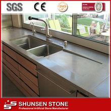 Naves de la mejor calidad Gris Artificial piedra del cuarzo SQC014