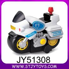 Juguete de los niños de dibujos animados de plástico de la motocicleta eléctrica motocicleta de la policía