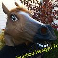 熱い販売の多機能面白いラテックスカラフルで着用され馬の衣装