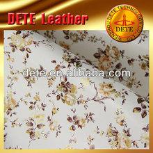 Materia prima flores impreso textil y productos de cuero para bolsos de mano, tela, tela de tapicería