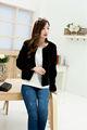 2014 nuevos productos hechos en china ropa de piel de zorro abrigo, señoras abrigo corto diseño