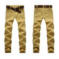 Wholeasle personalizadas para hombre de sarga de algodón pantalones casuales, hombres pantalones de chino