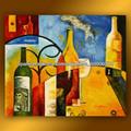 2013 desgins nuevo hogar decoración de la pared pintura al óleo pintura botella