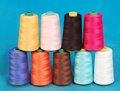 El hilo de coser 100% de poliéster recubierto