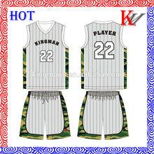 sublimación de baloncesto superior del baloncesto europeo diseño de jersey