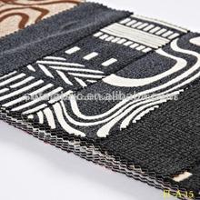 nuevo patrón de impresión rebaño sofá de la tela de tapicería