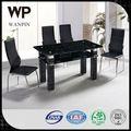 moderno de vidrio baratos mesa de comedor y silla para la venta