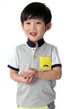 vente chaude et le moins cher t-shirt fashion style de prix enfants garçon en stock made in china