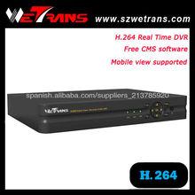 WETRANS TD-5204B 4CH solo del soporte de red en tiempo real H.264 CCTV DVR