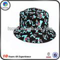 la costumbre de tela de flores sombrero del cubo patrón