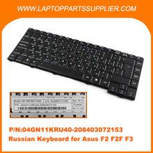 portátil de la marca de rusia teclado del ordenador portátil para asus f2 f3 servicio teclado ru