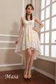 2014 ilusión v- cuello un- línea magnífico princesa boda dama de honor vestido