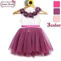 2014 nuevo diseño niña vestidos de algodón para niños de verano de moda vestidos de mostrar