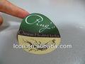 Papel cuché ronda el adhesivo de la etiqueta/etiqueta