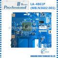 100% original del ordenador portátil amd la-4861p placa base del ordenador portátil para g627 3 meses de garantía