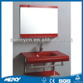 vidrio templado basinwall montada lavabo de cristal templado