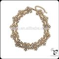 hecho en china de piedra de cristal de la cadena de plata collares