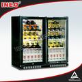 201l ventilado porta de vidro geladeira bar/undercounter frigorífico de barras/underbar geladeiras