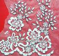 Decoración de la boda rollo de organza tela/bordado de tela de organza vestido de blanco