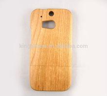de madera de cerezo talla no cubierta del teléfono móvil para htc m8