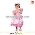 fantasía de color rosa niña vestido de fiesta para los niños
