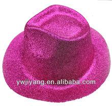 de vaquero baratos sombreros de fiesta de pvc de oro tapa contra el polvo