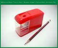 Dc eléctrico sacapuntas de lápiz con 6v de alimentación de cc, hecho de material abs sacapuntas de lápiz