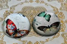 Fabuloso de imagen de impresión de cristal hemisferio bola para mosaic(r- 2073