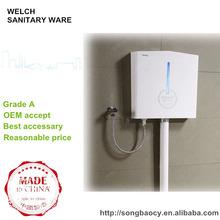 041M Venta caliente de diseño delgado de plástico que cuelga el ahorro de agua cisterna del inodoro