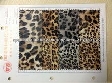 forme a PU impresa leopardo el cuero artificial para los zapatos de los bolsos