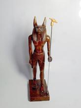 El antiguo egipto anubis dios estatua, la escultura