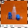 10 mlpe vacío frasco gotero de plástico niño a prueba de manipulaciones tapa