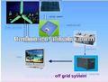 Pequenas do vento solar híbrida de energia do sistema, vento solar sistema híbrido de energia para venda