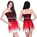 gradiente de color rojo de las señoras elegantes glamorosas corto vestido de noche sexy apretado