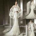 el último 2013 de encaje estilo d con el bolero sirena vestido de novia