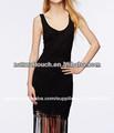 Las mujeres 2014 camiseta slim- ajuste negro sexy/vestido casual( ntf03024)