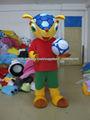 brasil mundo taza traje de la mascota