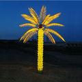 palma de la mano del árbol de la luz de la decoración de jardín iluminado led del árbol de palma al aire libre
